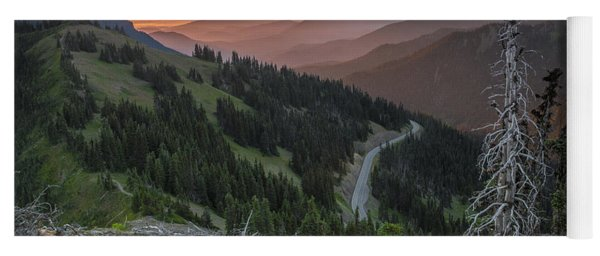 Sunrise At Hurricane Ridge - Sunrise Peak Yoga Mat