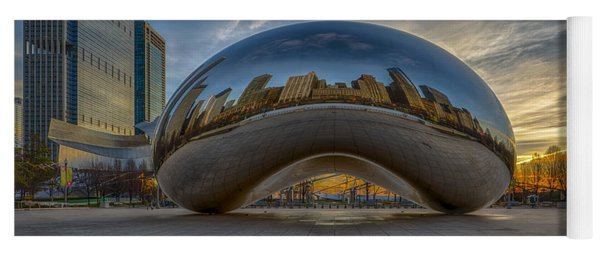 Yoga Mat featuring the photograph Sunrise Cloud Gate by Sebastian Musial
