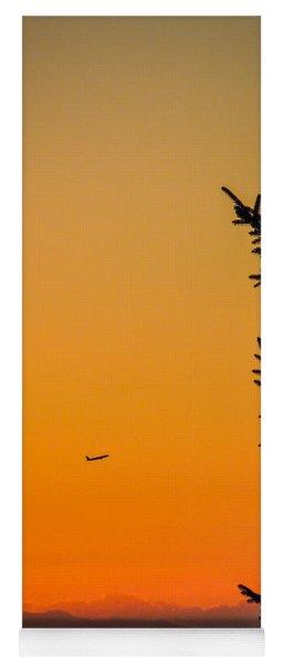 Sunrise Flight Departing Shannon Airport Yoga Mat