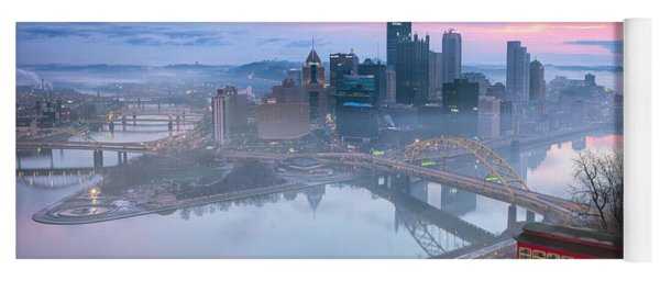 Pittsburgh Fall Day Yoga Mat