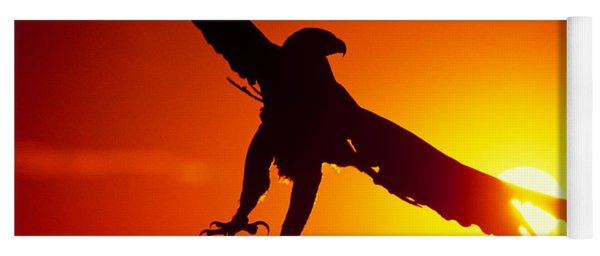 Sunrise Liftoff Golden Eagle Threatened Species Yoga Mat