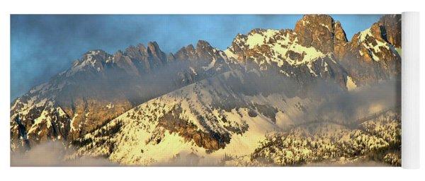 Sunrise On Thompson Peak Yoga Mat