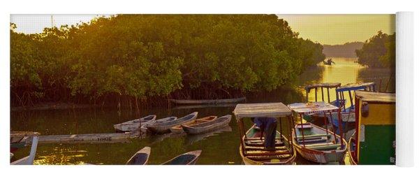 Sunrise Over Gambian Creek Yoga Mat