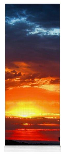 Sunrise Over Keystone Yoga Mat