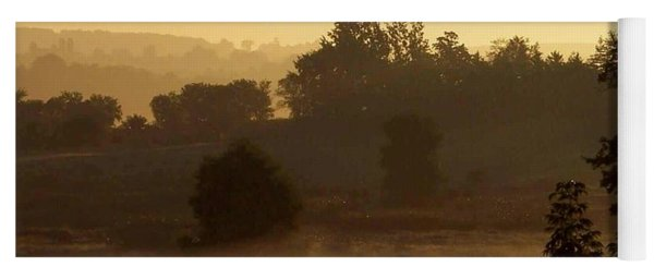 Sunrise Over The Mist Yoga Mat