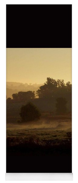 Sunrise Over The Mist Yoga Mat