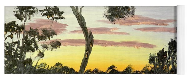 Sunrise Over The Murray River At Lowson South Australia Yoga Mat