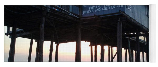 Sunrise Under The Oc Fishing Pier Yoga Mat