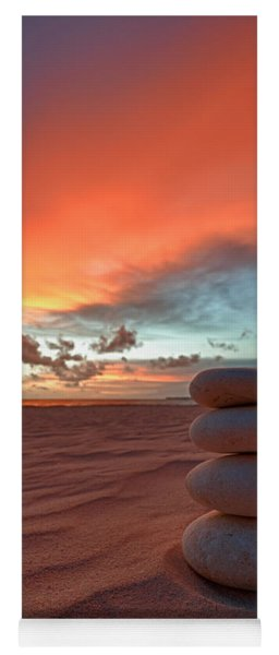 Yoga Mat featuring the photograph Sunrise Zen by Sebastian Musial