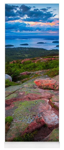 Sunset At Cadillac Mountain Yoga Mat