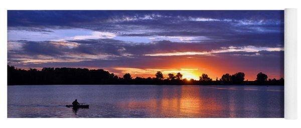 Sunset At Creve Coeur Park Yoga Mat