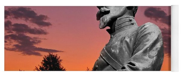 Yoga Mat featuring the photograph Sunset At Gettysburg  by David Dehner