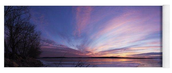 Sunset At Lovewell Lake Kansas Yoga Mat