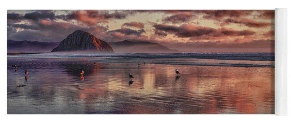 Sunset At Morro Strand Yoga Mat