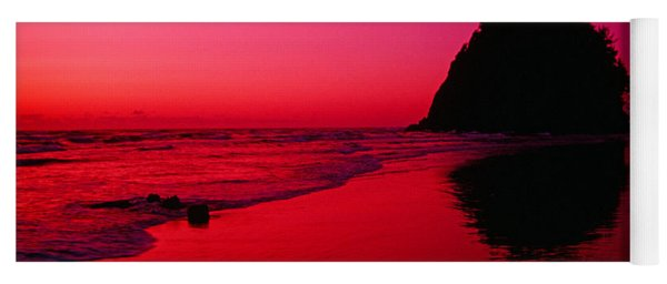 Sunset At Neskowin Beach- Proposal Rock Yoga Mat