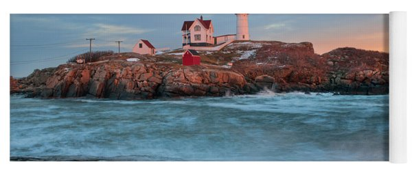 Sunset At Nubble Lighthouse Yoga Mat