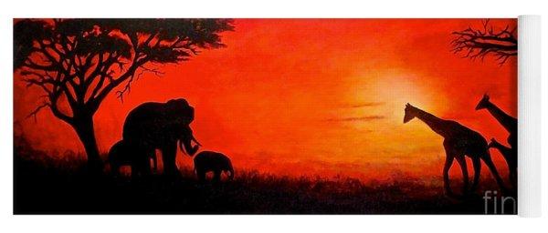 Sunset At Serengeti Yoga Mat