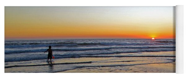 Sunset At The Beach Yoga Mat