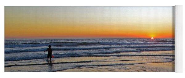 Sunset At The Beach Yoga Mat