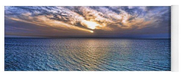 Sunset At The Cliff Beach Yoga Mat