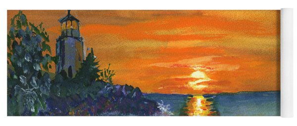 Sunset At The Lighthouse Yoga Mat