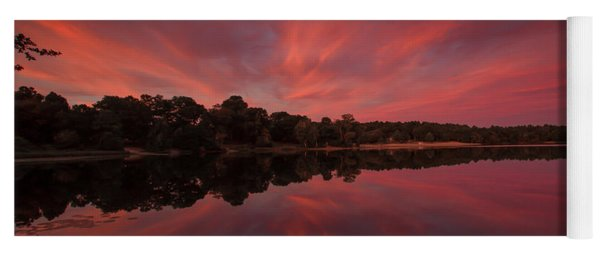 Sunset At The Pond Yoga Mat