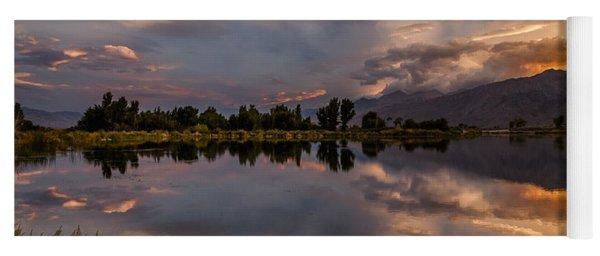 Sunset At The Pond Yoga Mat