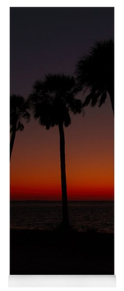 Sunset Beach Silhouette Yoga Mat