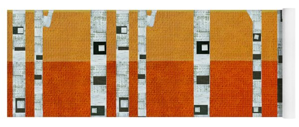 Sunset Birches Yoga Mat