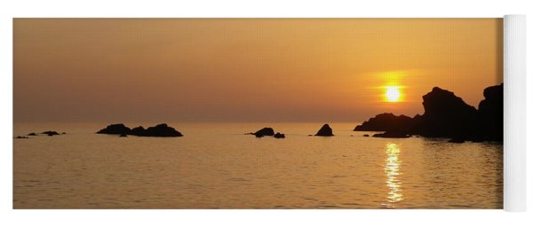 Sunset Crooklets Beach Bude Cornwall Yoga Mat