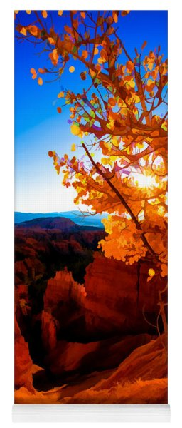 Sunset Fall Yoga Mat
