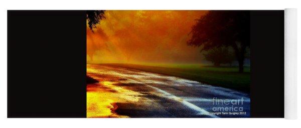 Sunset Glint In The Mist Yoga Mat