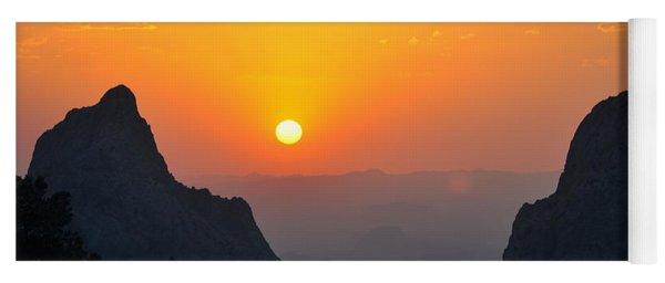Sunset In Big Bend National Park Yoga Mat