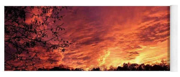 Sunset In Blue Ridge Foothills Yoga Mat