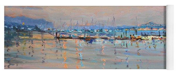 Sunset In Piermont Harbor Ny Yoga Mat