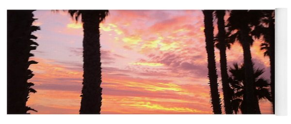 Sunset In San Clemente Yoga Mat