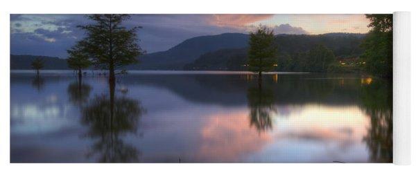 Sunset Lake Reflections Yoga Mat