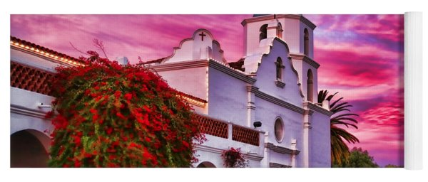 Sunset Mission San Luis Rey De Francia By Diana Sainz Yoga Mat
