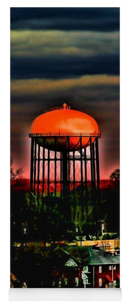 Sunset On A Charlotte Water Tower By Diana Sainz Yoga Mat