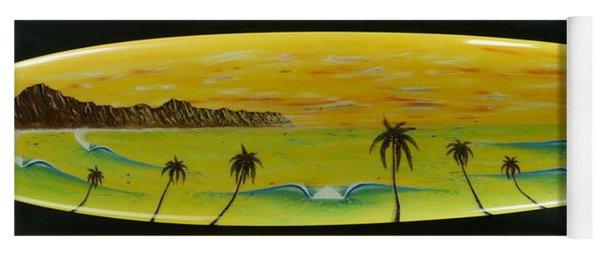 Sunset On A Surfboard Yoga Mat