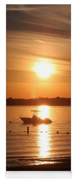 Sunset On Boat Yoga Mat