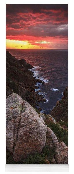 Sunset On Cape Prior Galicia Spain Yoga Mat