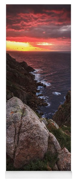 Sunset On Cape Prior Galicia Spain Yoga Mat