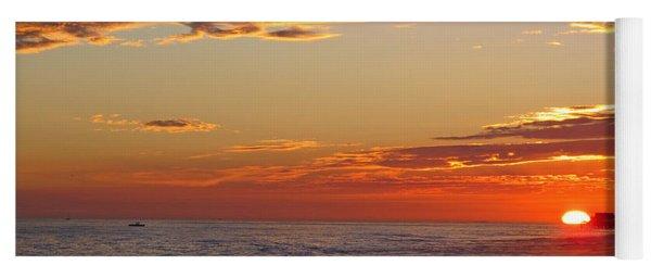 Sunset On Newport Beach Yoga Mat