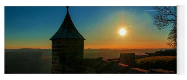 Sunset On The Fortress Koenigstein Yoga Mat