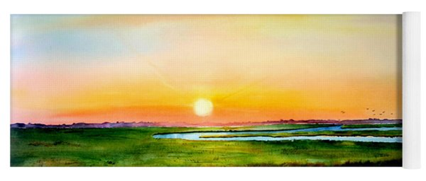 Sunset On The Marsh Yoga Mat