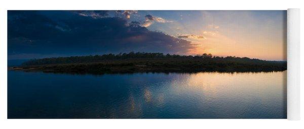 Sunset Over A Lake, Chitwan National Yoga Mat