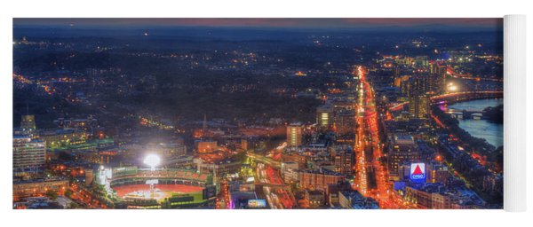 Sunset Over Fenway Park And The Citgo Sign Yoga Mat