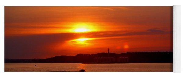 Sunset Over Lake Ozark Yoga Mat