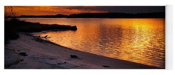 Sunset Over Little Assawoman Bay Yoga Mat